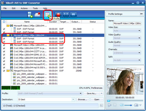 Xilisoft AVI to SWF Converter
