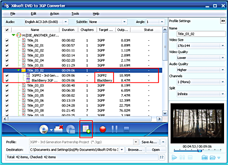 Xilisoft DVD to 3GP Converter