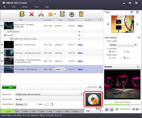 DVD Creator, Convert FLV to DVD, FLV to DVD converter