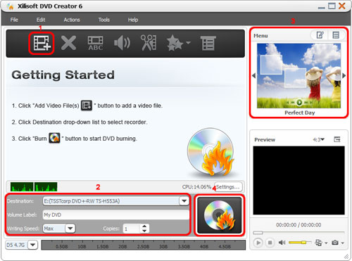 DVD Creator, Convert MPEG to DVD, MPEG to DVD converter 
