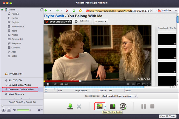 Download and convert online videos to iPod