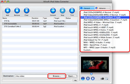How to put video to iPod on Mac