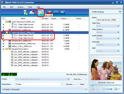 Xilisoft MOV to FLV Converter