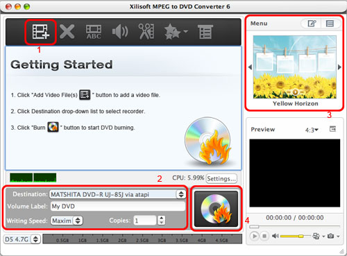 Burn MPEG to DVD on Mac