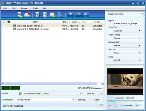 Convert videos to Xbox, video converter, video to Xbox converter