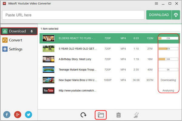Create a new downloads + conversion task